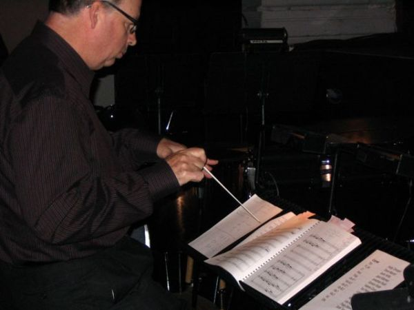 Owen Underhill conducting rehearsal at the Moore Theatre [BE]