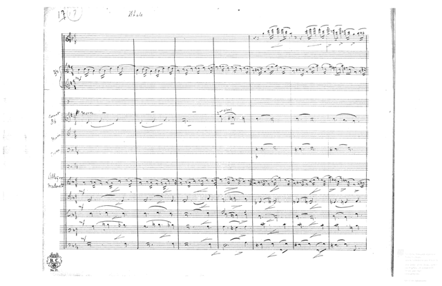 Braham score pages courtesy Getty Research Library
